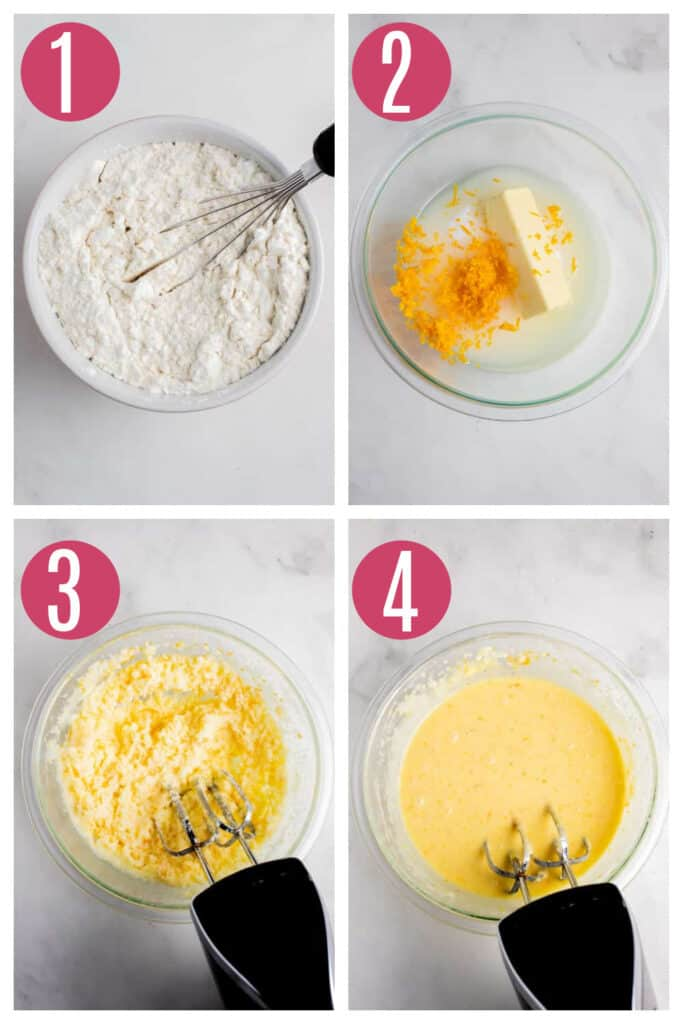 step by step photos of making orange creamsicle cake