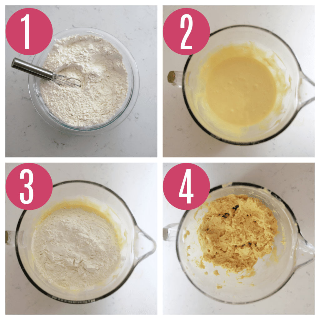 step by step photos of making old fashioned sour cream donut dough
