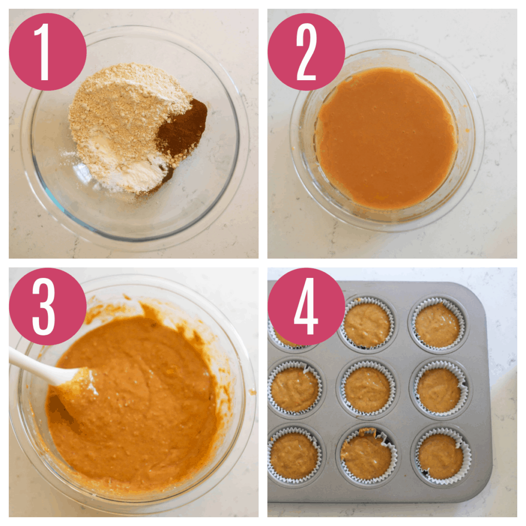step by step photos of making pumpkin cupcakes