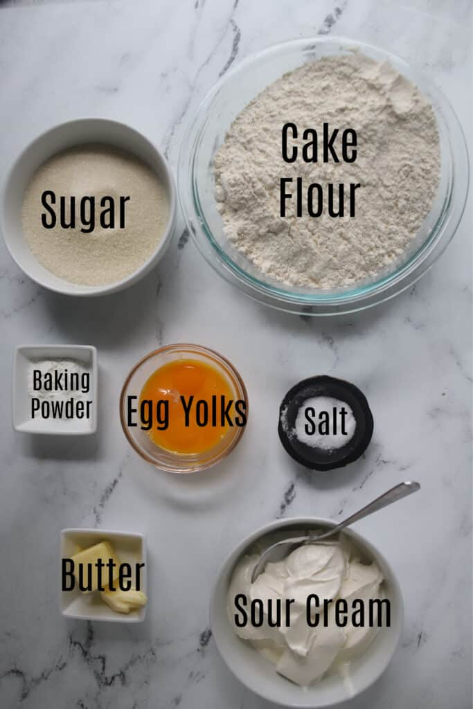 ingredients for sour cream donuts